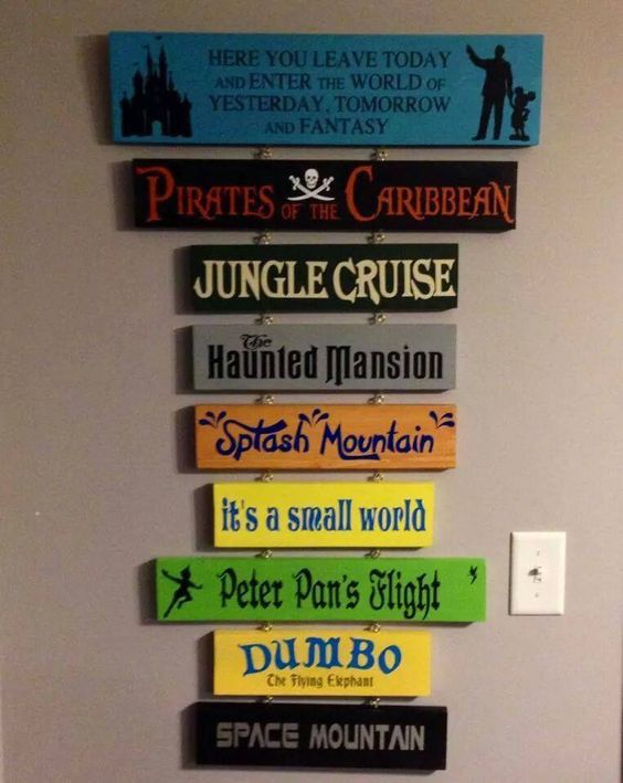 Disney planks. Home decor  #disney #disneyhome