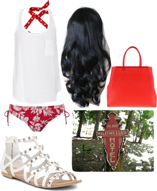 """""""Danielle's Hawaii vacation outfit #2"""" by owensolivia ❤ liked on Polyvore"""