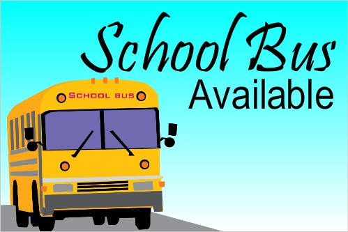 School Bus Available Banner