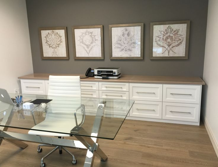 this feminine office remodel readies a young for success white leather