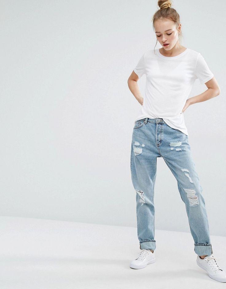 Monki+Imoo+Distressed+Boyfriend+Jeans