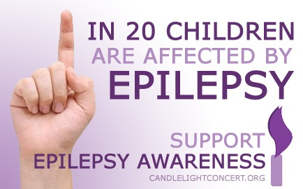 1 in 20 children are affected by epilepsy. support epilepsy awareness http://www.candlelightconcert.org