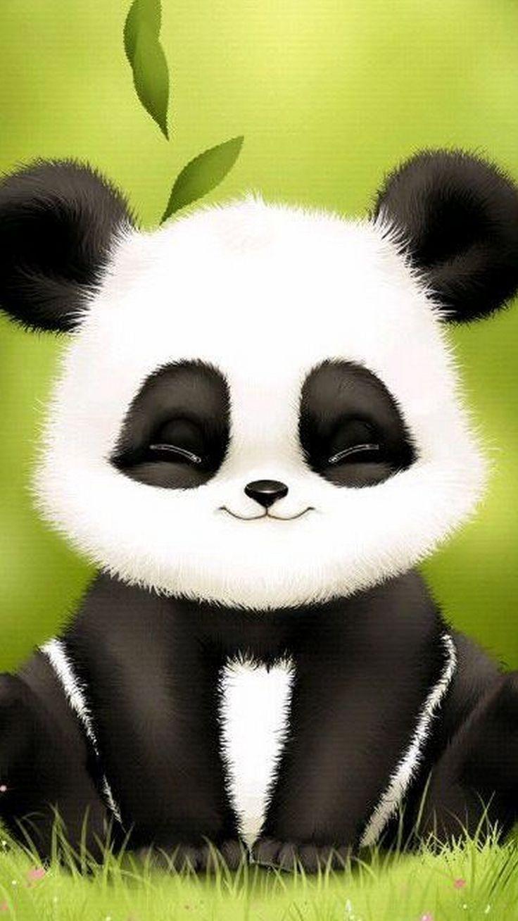 Cute Panda Wallpaper For Phone Ilustração de panda