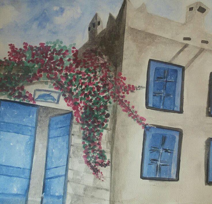 Watercolor by Yasemin Türkoğlu