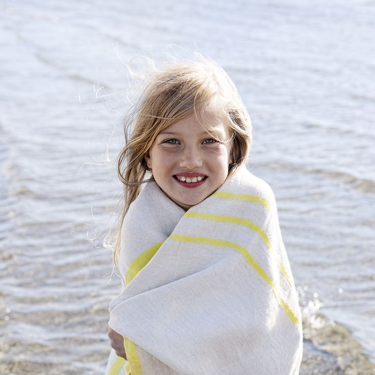 USVA towel in 100% washed linen, woven in Finland by Lapuan Kankurit