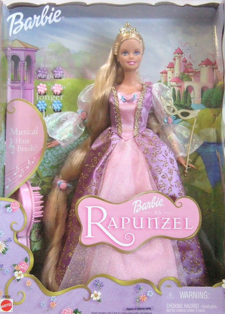 Barbie as Rapunzel (2001). I wanted this doll so badly as a little girl :)