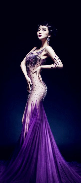 Sheer purple evening gown // Pinned by Dauphine Magazine x Castlefield - Curated by Castlefield Bridal & Branding Atelier and delivering the ultimate experience for the haute couture connoisseur! Visit www.dauphinemagazine.com, @dauphinemagazine on Instagram, and @dauphinemag on Pinterest • Visit Castlefield: www.castlefield.co and @ castlefieldco on Instagram / Luxury, fashion, weddings, bridal style, décor, travel, art, design, jewelry, photography