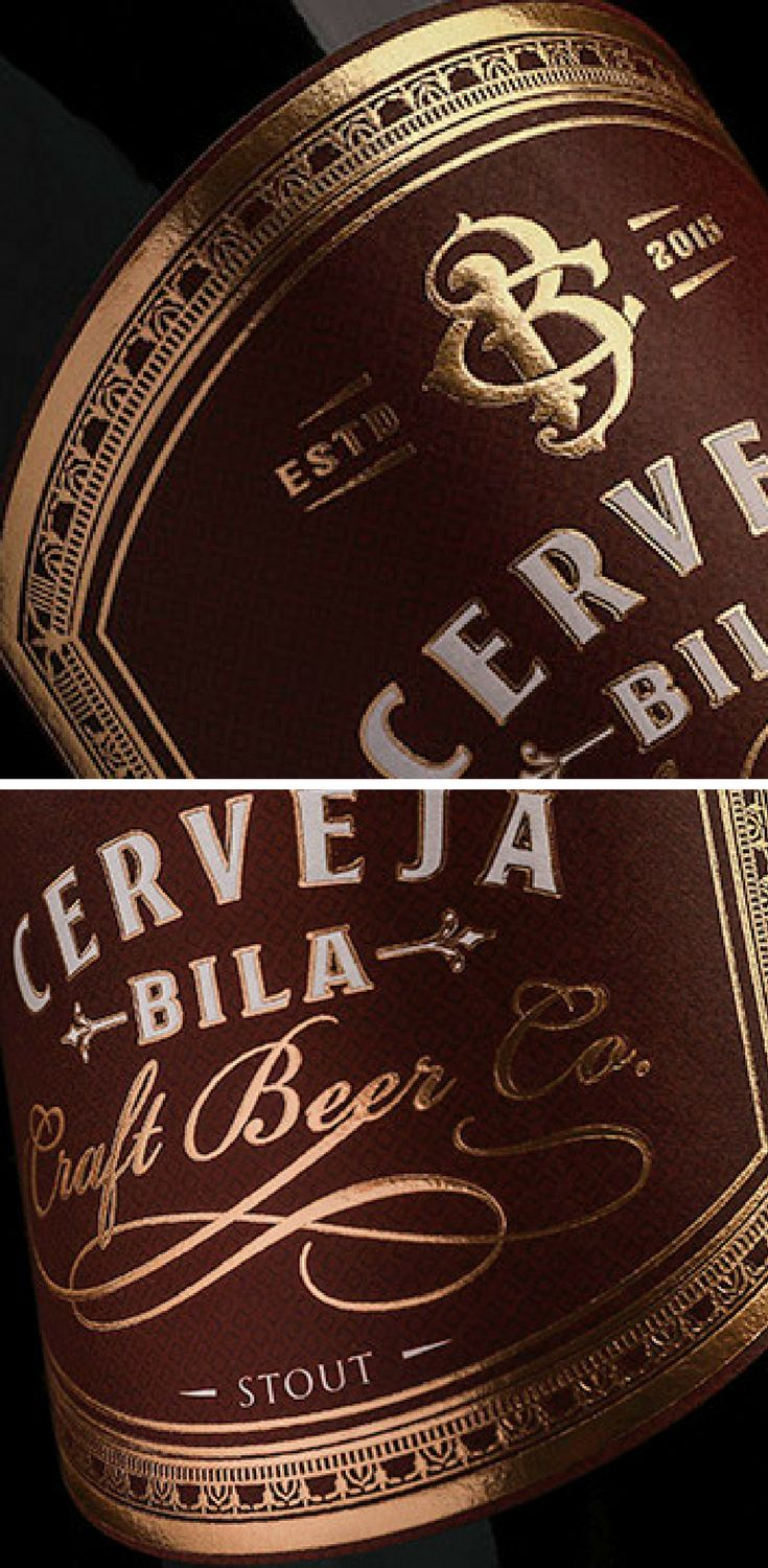 'Bila Craft Beer' is a brand from Vila Real, Portugal. The client requested monogram and a premium looking label design. The monogram and identity was created to complement the premium look with gold details.