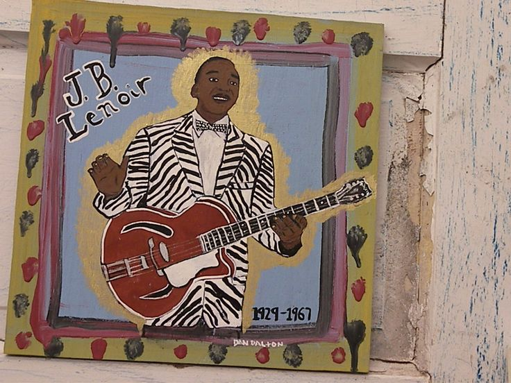 J B Lenoir -Dalton Blues Art Blues Folk Art