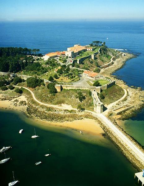 National Parador of Conde de Gondomar in Baiona (Pontevedra). Galicia. Spain.