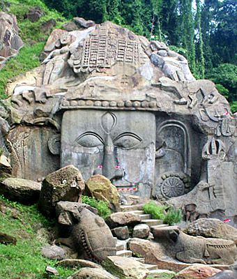 Unakoti is home to numerous rock cut sculptures and stone carvings belonging to the 9th and 10th century AD.