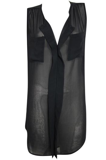 Sleeveless,   Pocket-Detail,  Sheer-Tunic,  $29,  BLACKSheertun