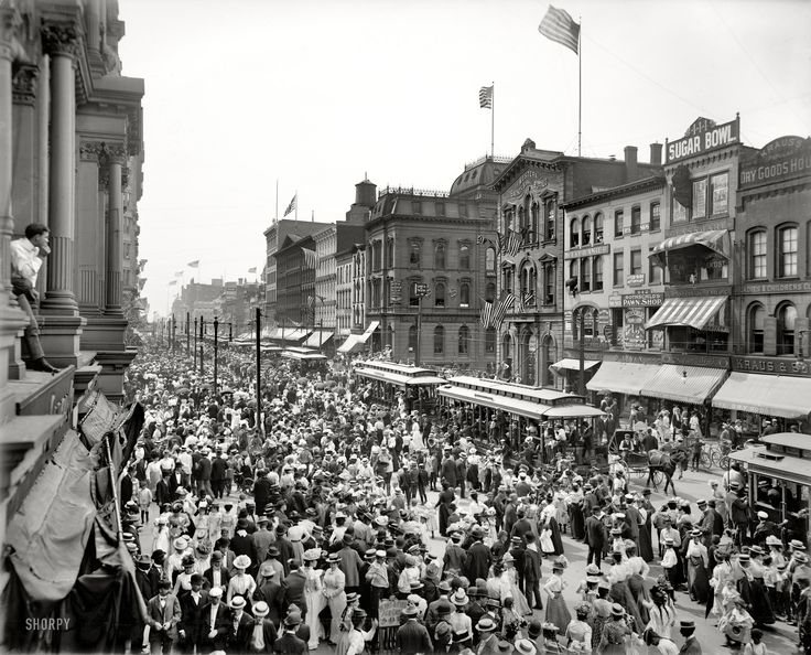 "Buffalo, New York, 1900. ""Labor Day parade crowd, Main ..."
