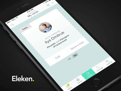 Profile Cards iOS App Animation by Eleken #UI