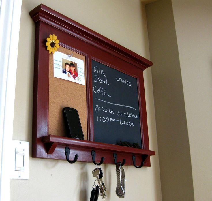 Wall Shelf Barn Red Bulletin Board Chalkboard Keyhook Organizer For Your  Home Heirloom Quality Organization Furniture
