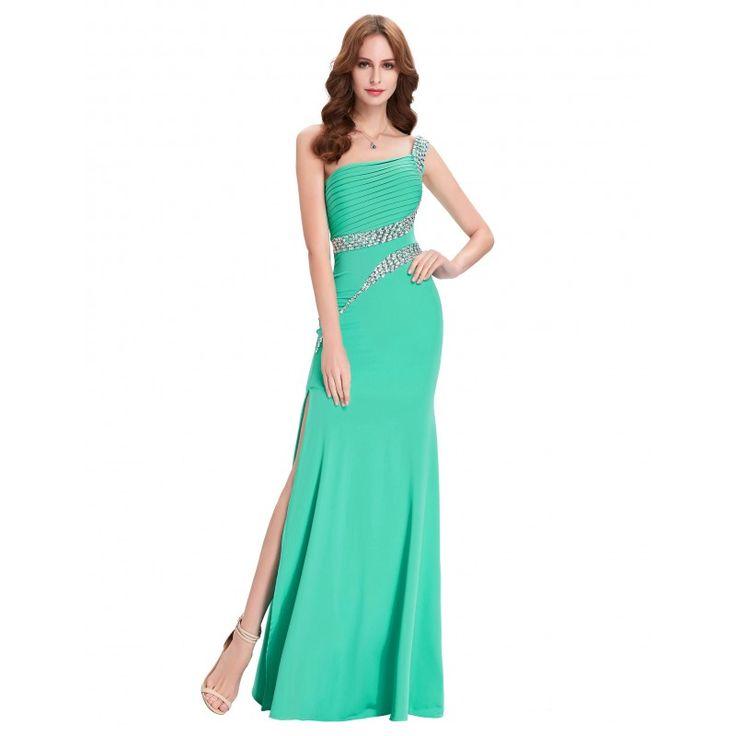 Tyrkysové spoločenské šaty CL6062