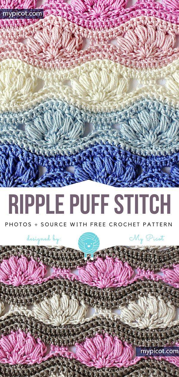 Ripple Puff Stitch Free Crochet Pattern Crochet For Beginners