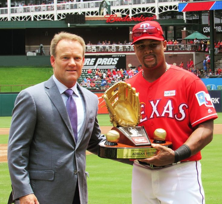 """12.4k Likes, 174 Comments - Rangers ⚾️ (@rangers) on Instagram: """"The 🐐 received his 2016 Gold Glove before today's game! 🏆🏆🏆🏆🏆"""""""