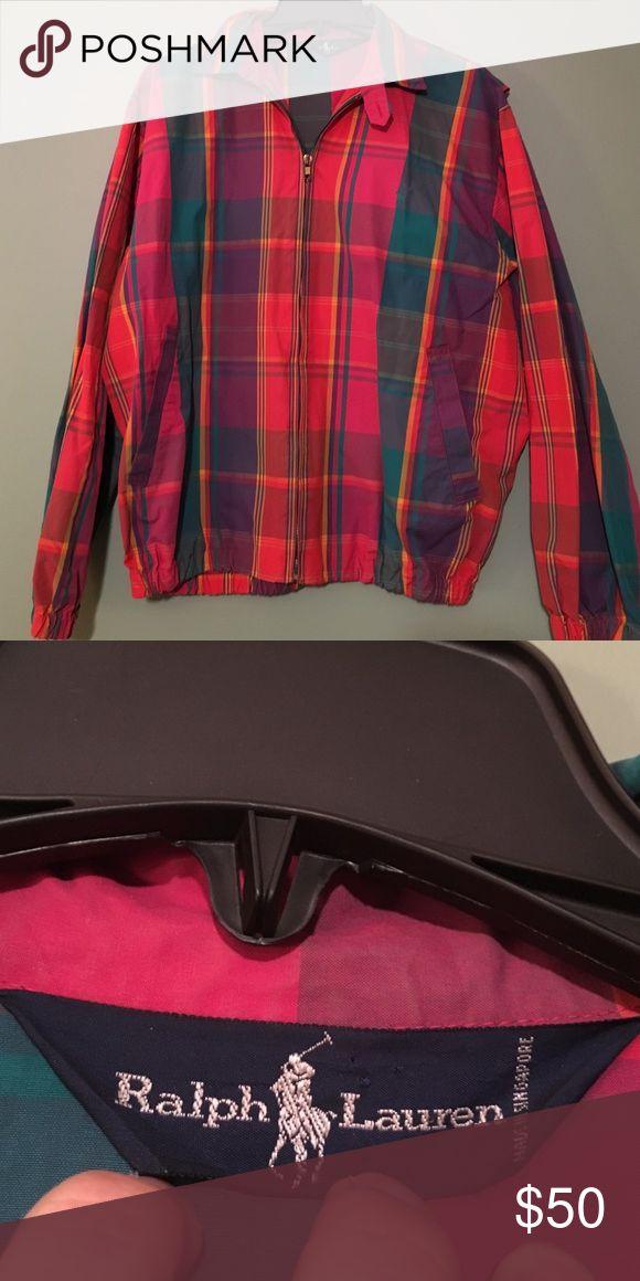 Vintage Polo Jacket Medium Vintage Plaid Polo Jacket. Great Condition. Polo by Ralph Lauren Jackets & Coats Bomber & Varsity