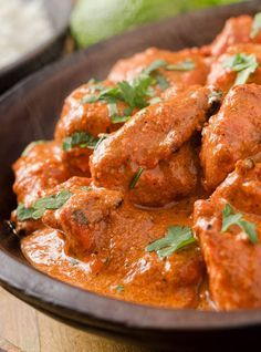 Authentic Indian Butter Chicken ~ Says: Chicken Makhani or Indian Butter Chicken is not only my favorite Indian dish but probably one of my favorite chicken dishes as well. Just change the amount of cayenne to make this dish as mild or as spicy as you like.