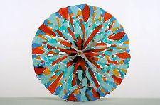 Beautiful round glass wall clock.