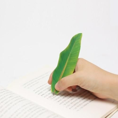 Appree Bookmark Pen Banana Leaf Green Yellow