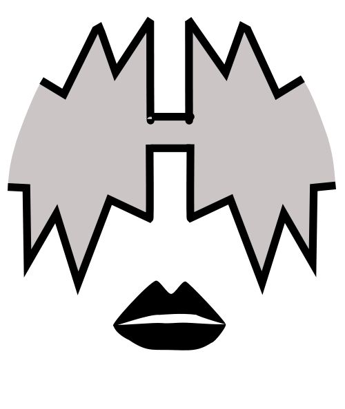 Kiss Band Faces: Image Stencil Wheel Kiss Rockband Templates Used Their