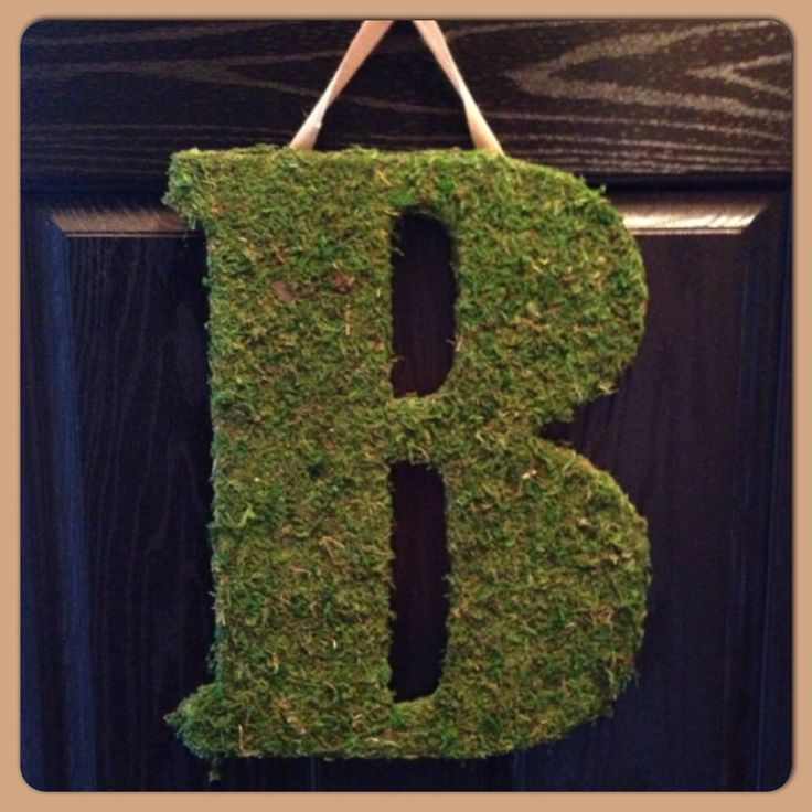 Huge Moss Covered Letter with Burlap String- Wedding Decor- Monogram- Moss Initial - Rustic Decor by SheekBurlapDesigns on Etsy https://www.etsy.com/listing/164058579/huge-moss-covered-letter-with-burlap