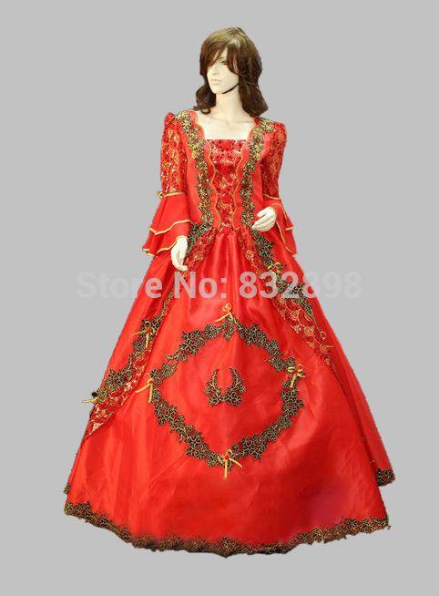 Купить товарПлатье , Хэллоуин косплей красный благородный суд принцесса сисси свадьба косплей костюмы в категории Платьяна AliExpress.           Пожалуйста, поймите, что мы будем взимать дополнительные $20 если  Ваш размер больше, чем размер X