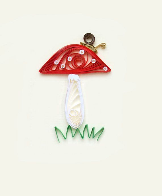 For a Fungi greeting card  humour paper quilling by szalonaisa, $7.00