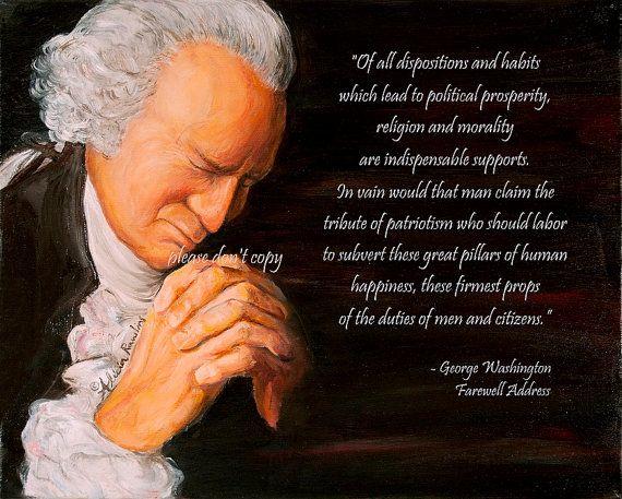 16X20 George Washington Praying  Morality by ChristianFineArt, $22.75