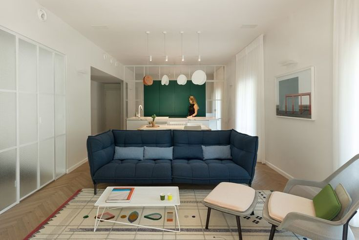 While acknowledging the importance of preserving the 1930s Bauhaus architecture of the building, a team of architects and interior designers renovated this apartment in Tel Aviv by mixing the classic-European heritage with contemporary style #openspace