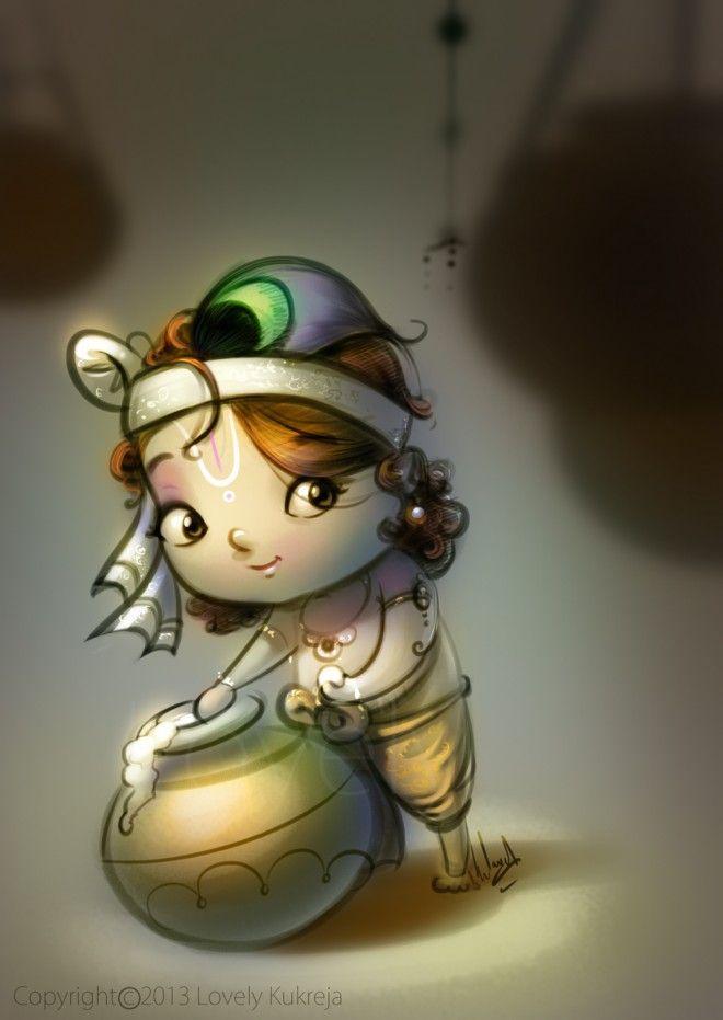 15 Beautiful Indian God Digital Art Works And Illustrations By Lovely Kukreja Krishna Drawing Cute Krishna Little Krishna Beautiful cute god wallpapers