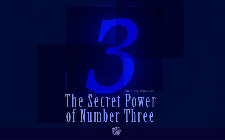 The Secret Power of Number Three - via @psyminds17