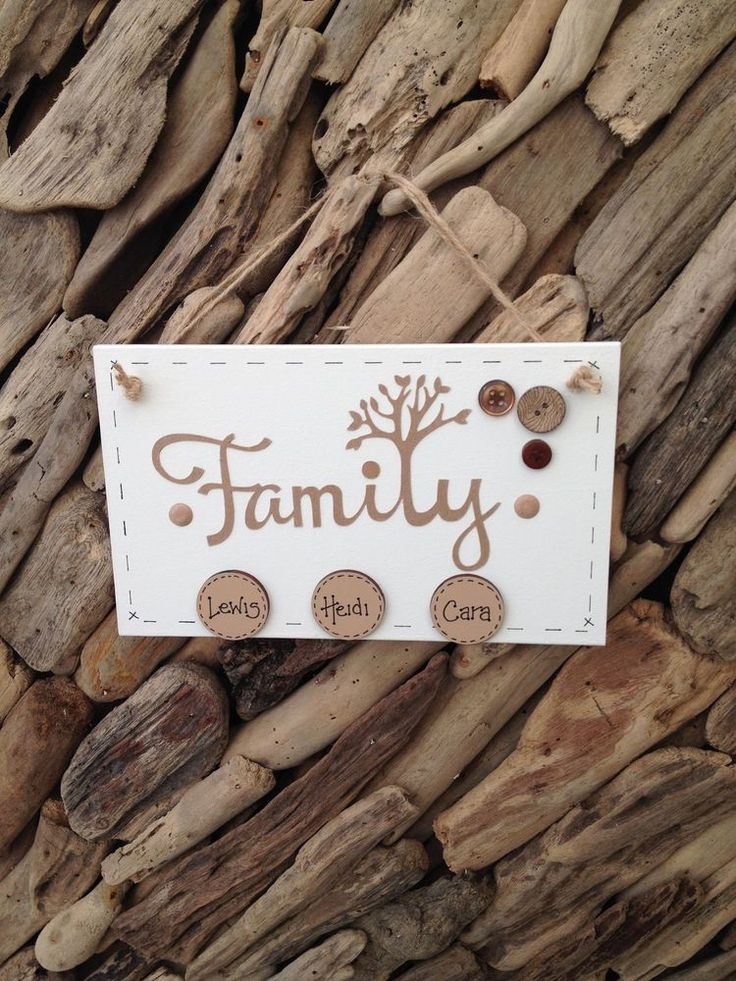 Family Tree Handmade Personalised Plaque Sign with Names on Discs