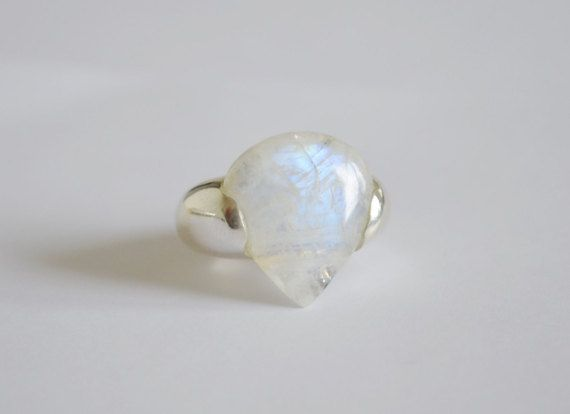 Royal Moonstone Silver Ring
