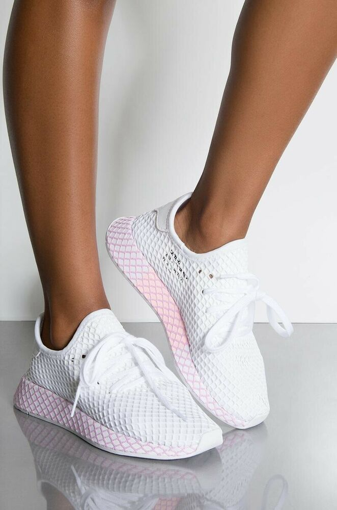 New Adidas Deerupt Runner Sneakers Womens Size US 7.5 White ...