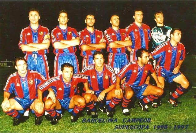 EQUIPOS DE FÚTBOL: BARCELONA Campeón de la Supercopa de España 28/08/1996