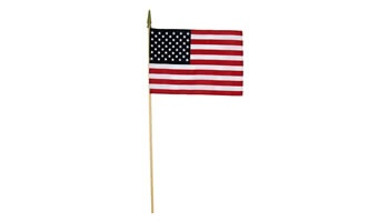 12 in. x 18 in. US Flags On A Stick-12 Pack
