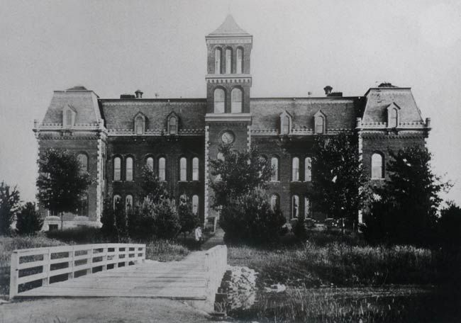 Kirksville State Normal School in the late 1800s