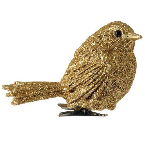 Gold Bird Christmas Tree Decorations : Best images about gold silver cream black