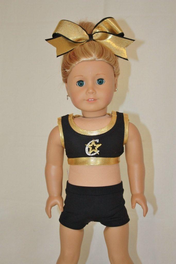 Custom Cheer Uniform for American Girl 18 inch Doll by PixieDustDollClothes on Etsy