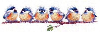 Chorus Line, Cross Stitch pattern by Heritage Crafts
