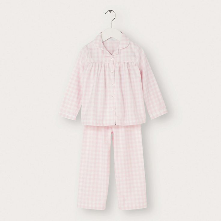 Gingham Flannel Pyjamas | The White Company