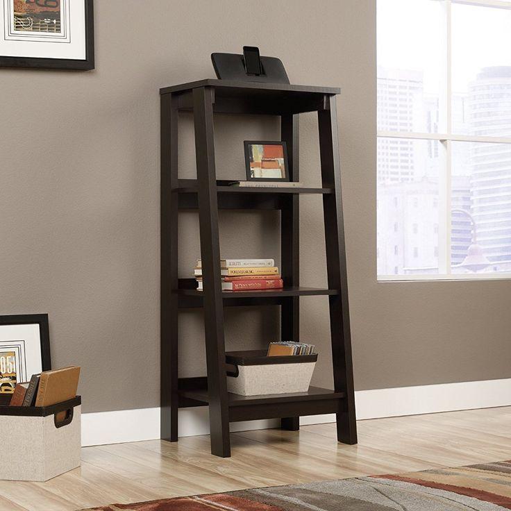 Sauder 414565 Bookcases Furniture Trestle Jamocha Wood