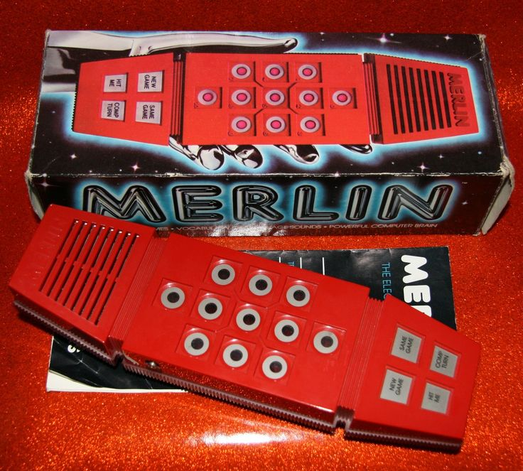 Merlin (sometimes known as Merlin, the Electronic Wizard) was a handheld electronic game first made by Parker Brothers in 1978. Merlin is notable as one of the earliest and most popular handheld games, selling over 5 million units during its initial run.