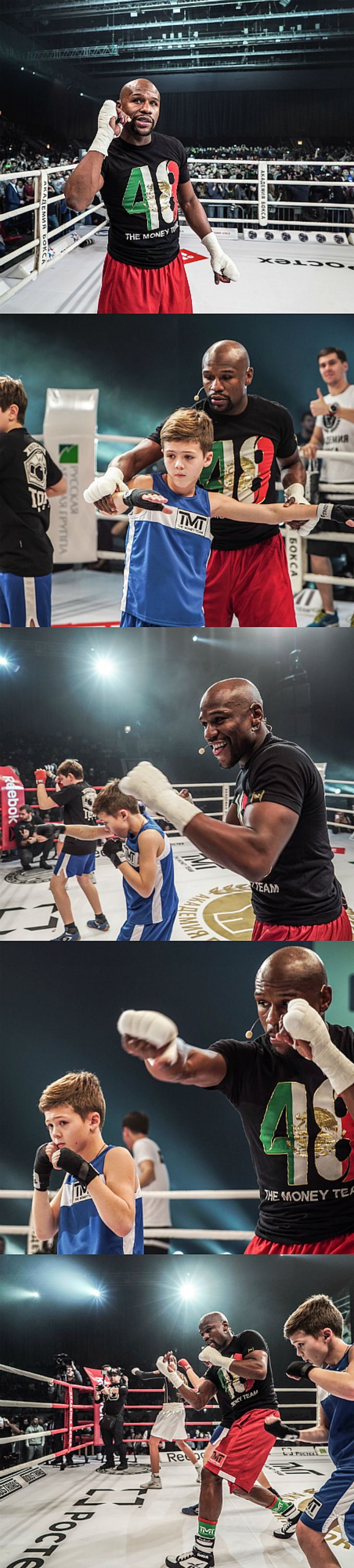 Hundreds of boxing fans in Moscow, Russia became record breakers after they took up superstar Floyd Mayweather Jr's invite to join him in an open training session. The Largest boxing lesson saw an impressive 791 people take part in the training drill, with professional teaching all the way.   #fitness #boxing #kickboxing #WBC #mayweather #floyd #boxer #athlete #classes #fitnessclass #exercise #fit #healthy #russia