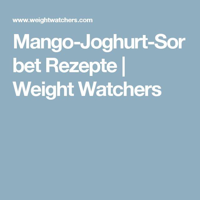 Mango-Joghurt-Sorbet Rezepte | Weight Watchers