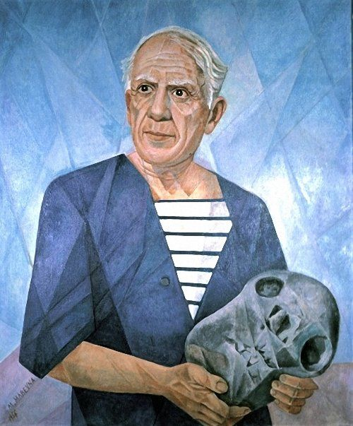 Portrait of Pablo Picasso, 1956  Marevna (Marie Vorobieff)