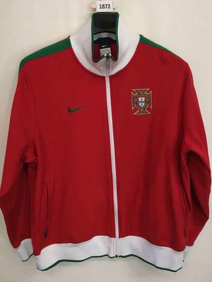 MENS 2XL XXL PORTUGAL NATIONAL FPF NIKE SOCCER TRACK JACKET CRISTIANO RONALDO #Nike #Portugal
